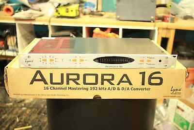 Pro Audio Equipment Mixing/mastering Quality Discounts Sale Sporting Lynx Aurora16 W/ Aes/ebu & Usb I/o Card Installed