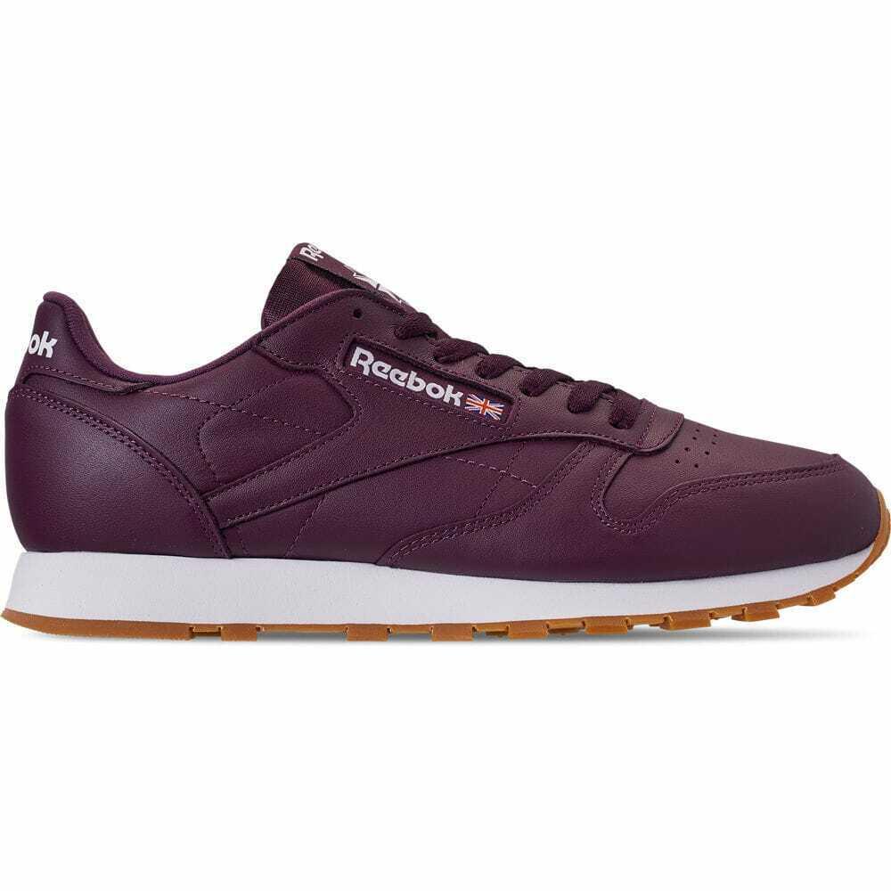 Para Hombres Zapatos informales de goma Reebok Cuero Clásico Marrón Goma DV3838 MAR
