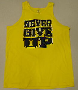 7d2fa7862730fe WWE Authentic John Cena Never Give Up Yellow Tank Top T-shirt ...