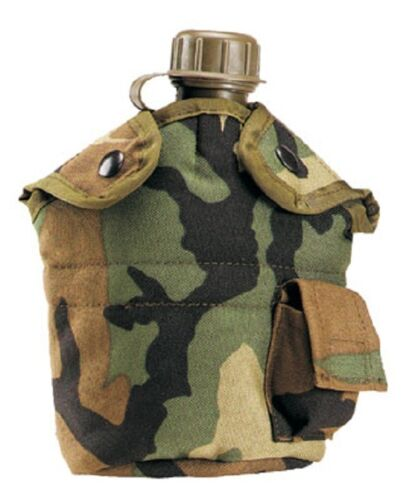 Canteen camofludge army military water bottle hiking camping 1 quart canteen