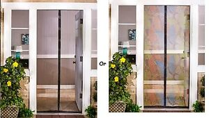 Details About Instant Decorative Screen Doors Metal Mesh W Magnetic Snap Closure Easy Install