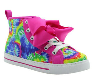 Jojo Siwa Pink Purple Flip Sequence Bow Shoes High Top Sneakers Size 12 13 1 2 3