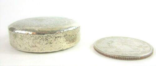 Sterling Silver Rounds 92.5/% Bullion Home-Made Melted Rounds Appx 85 grams