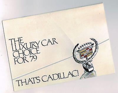 1979 Cadillac Brochure / Flyer: Eldorado,siviglia,deville,fleetwood Brougham, Long Performance Life