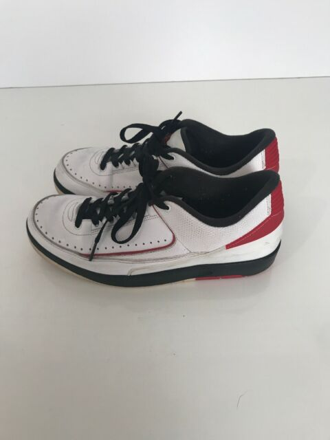 best loved 7856e 24642 Nike Air Jordan 2 Retro Low Sneaker Sz 9.5 White Red Black 832819 101