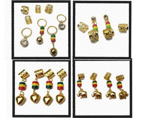 Dreadlocks Braids Beads Cuffs Hair Decoration Filigree Tube Gold Rasta Dreads