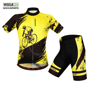 Men-039-s-Short-Sleeve-Cycling-Jersey-Shorts-Set-MTB-Bike-Bicycle-Clothing-Teamwear