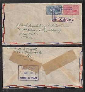 1949-VENEZUELA-PHILATELIC-COVER-w-GREAT-BOXED-STAMPS