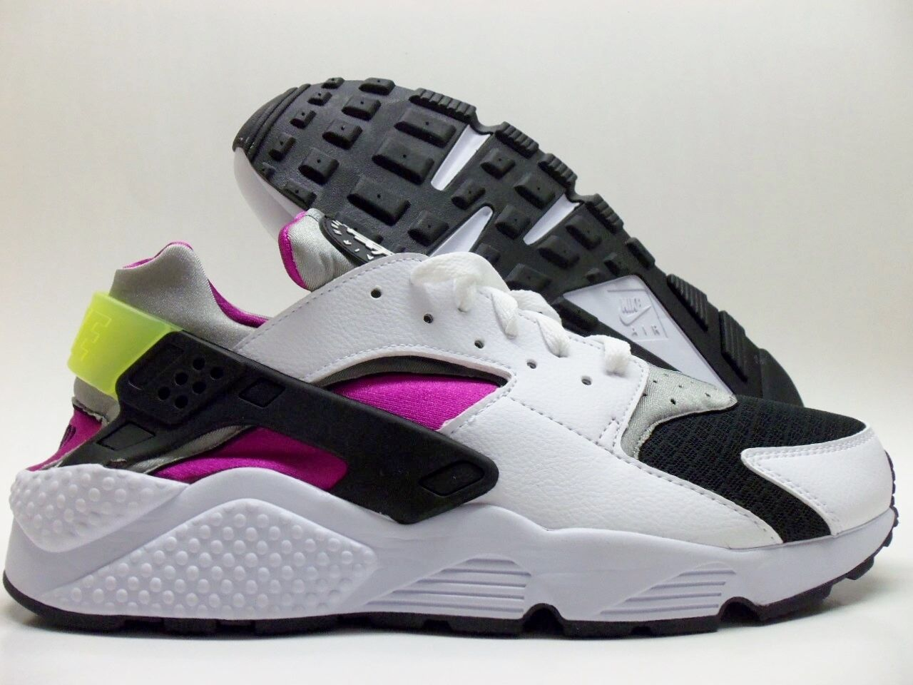 NIKE BLACK/WHITE-MAGENTA AIR HUARACHE ID TRAINER BLACK/WHITE-MAGENTA NIKE SIZE MEN'S 12 [777330-991] 040729