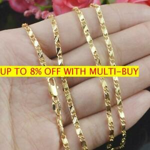 Wholesale-Exquisite-18K-Yellow-Gold-Filled-16-30-Inches-Jewelry-Chain-Necklace