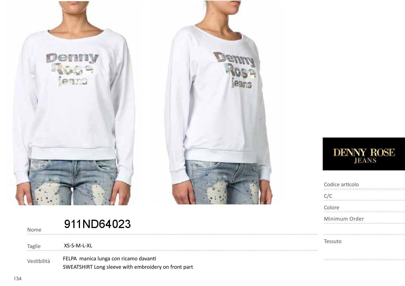 911ND64023 Denny Rosa Jeans Sweatshirt 2019 erhältlich