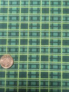 100-Cotton-quilting-craft-Fabric-Christmas-Yuletide-Magic-2932-Benartex-Green