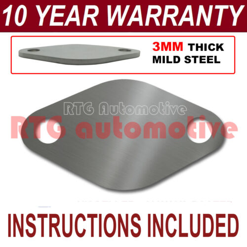 AUDI A2 A3 A4 A6 1.6 TDI DIESEL EGR VALVE BLANKING PLATE 3MM THICK STEEL ND
