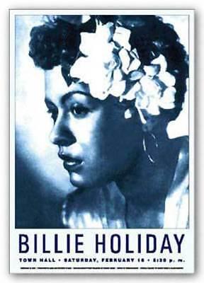 Billie Holiday Singer BW Photo Advertisement Vintage Poster Print Retro Art