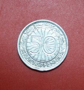 Deutsches Reich-weimar 50 Riche Pfennig 1928 République De Weimar #f2932, Ss-vf-afficher Le Titre D'origine