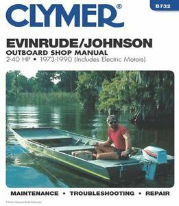 Details about 1973-1990 Johnson Evinrude 2-40HP Outboard Repair Manual 1989  1988 1987 86 B732