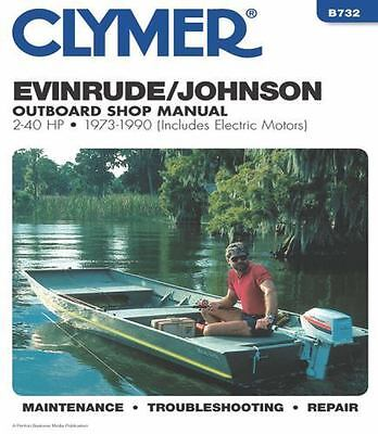 1973 1990 Johnson Evinrude 2 40HP Outboard Repair Manual 1989 1988 1987 86 B732 9780892875542 EBay
