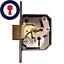 1st p/&p Inc Chubb Union 3g114 Practice Lock formation plaque serrurier