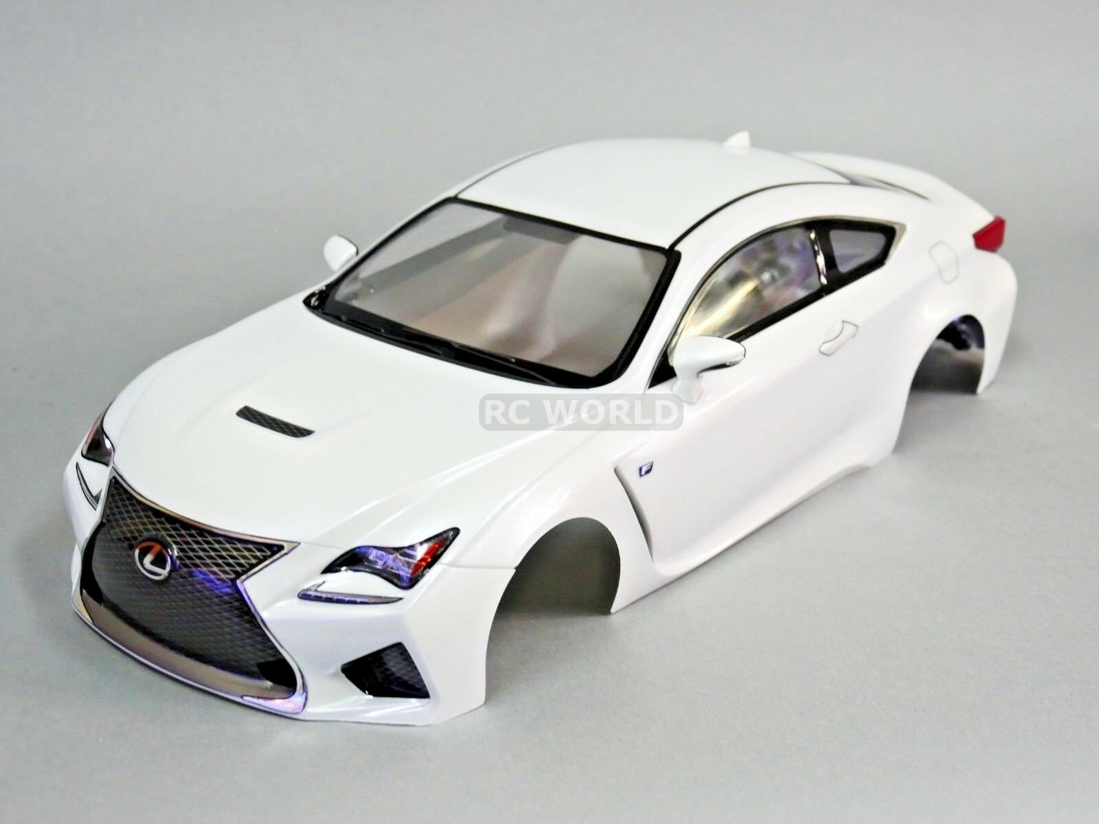 1/10 RC Car BODY Shell LEXUS RC F  190mm *FINISHED* PEARL bianca