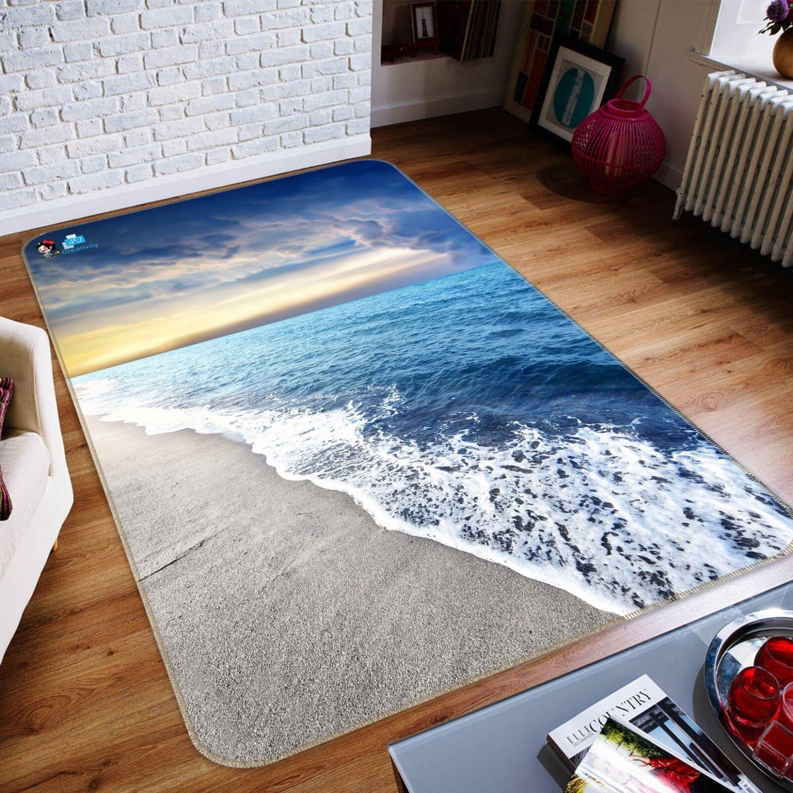3D Sky Waves Natural 6 Non Slip Rug Mat Room Mat Quality Elegant Photo Carpet AU