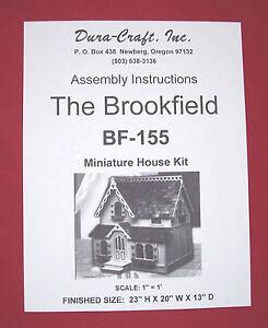 Dura-Craft *BROOKFIELD* BF-155 Dollhouse Instructions
