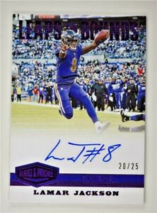 2019-Plates-and-Patches-Leaps-and-Bounds-Purple-Auto-LB-LGA-Lamar-Jackson-20-25
