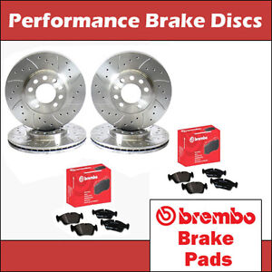 Honda-Civic-Type-R-EP3-Front-amp-Rear-Drilled-amp-Grooved-Brake-Discs-amp-Brembo-Pads