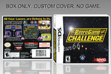 NINTENDO DS : RETRO GAME CHALLENGE. ENGLISH. COVER + ORIGINAL BOX. (NO GAME).
