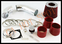 01 02 03 Ford Explorer 4.0l V6 Sohc Cold Air Intake System W/ Filter - Red