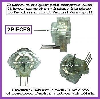 2 MICRO-MOTEURS COMPLET REPARER VOTRE COMPTEUR,CITROEN C5 806. PEUGEOT 206