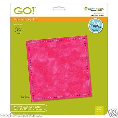"""AccuQuilt GO! Square-6 1/2""""Fabric Cutting Die 55000 Quilt Applique Block"""