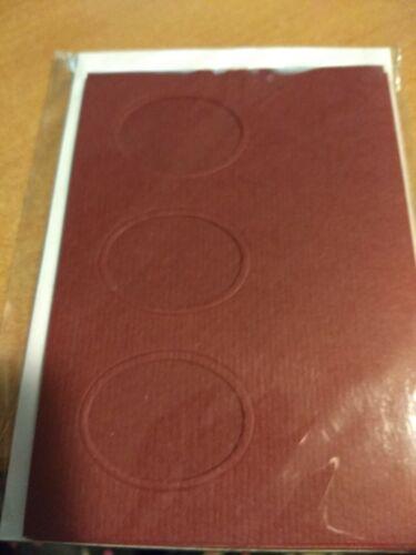 4X DOUBLE CARDS FOR MAKE CRAFTS ETC 15X10,5 CM NEW BORDEAUX DC11