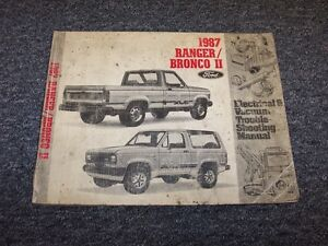 1987 ford ranger & bronco ii 2 truck electrical wiring & vacuum diagram  manual