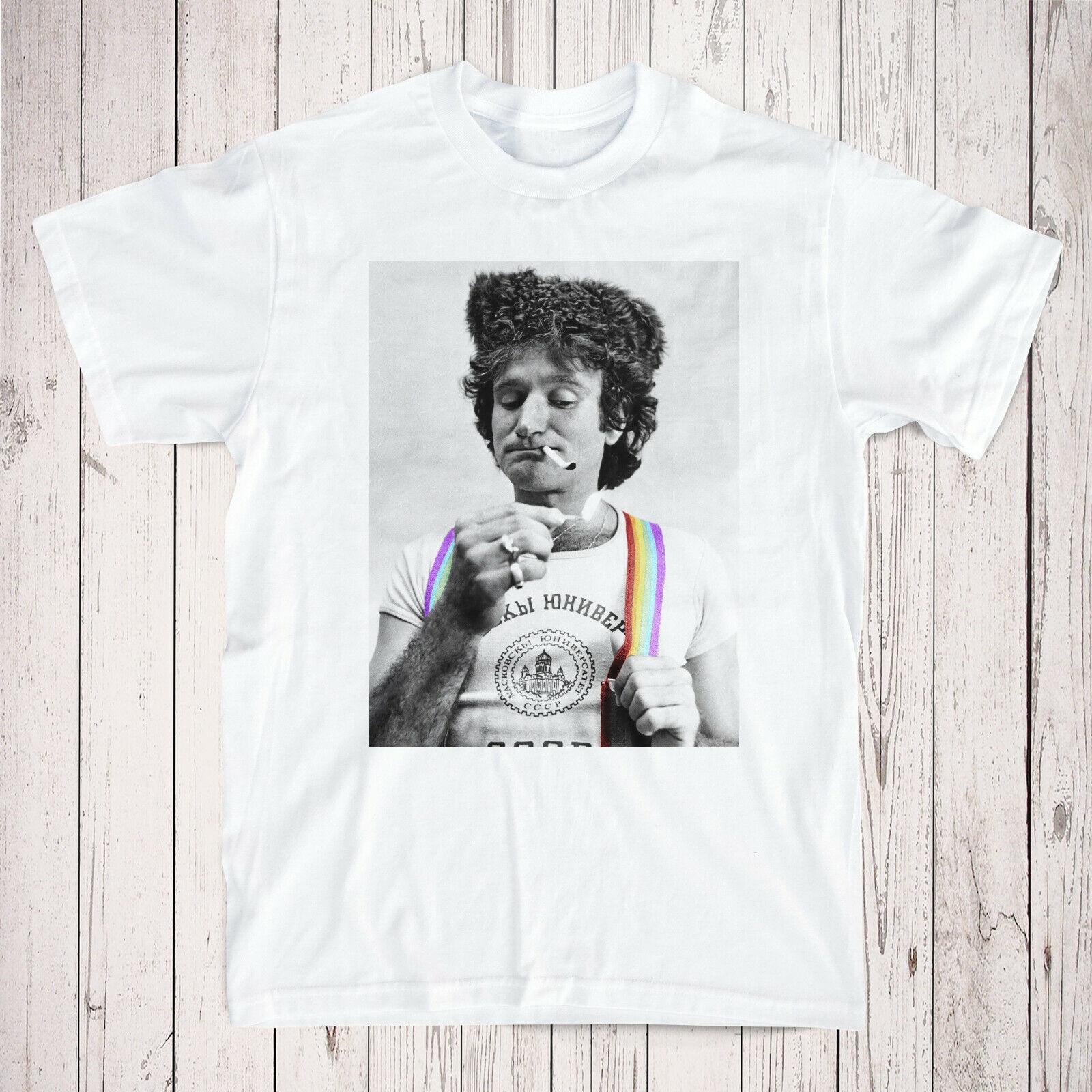 Robin Williams Tribut T-Shirt - - - Mork & Mindy Rainbow Vintage T-Shirt | Deutschland München  | Verkauf  18d343
