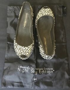 NEW-J-Maskrey-for-Melissa-Couture-034-Night-Sky-Edition-034-Peep-Toe-Swarovski-Flats