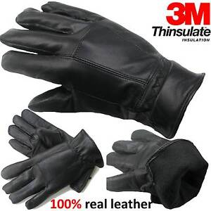 MENS-LEATHER-GLOVES-THINSULATE-SOFT-FEEL-FULLY-LINED-WINTER-WARM-OUTDOOR-WALKING