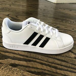 adidas Tennis Grand Court Kids Sz 5 (White/Black) Shoes EF0103 | eBay