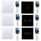 Smart Touch Wall Light Remote Control Switch EU Standard Panel 1/2/3 Gang 1 Way