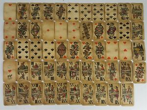 JEU-DE-CARTES-TAROT-54-CARTES-COMPLET-FERD-PIATNIK-VIENNE-XIXEME-SIECLE