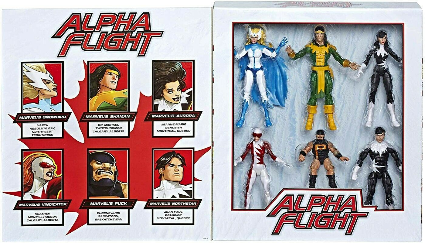 Marvel Legends 80th ANNIVERSARIO Alpha volo azione cifra 6Pack