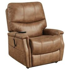 Right2Home Faux Leather Dual Motor Lift Chair in Badlands Saddle Brown NEW
