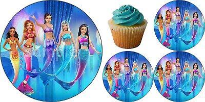 Barbie Tortenaufleger Party Deko Muffin Geburtstag Meerjungfrau Oceana Cupcake