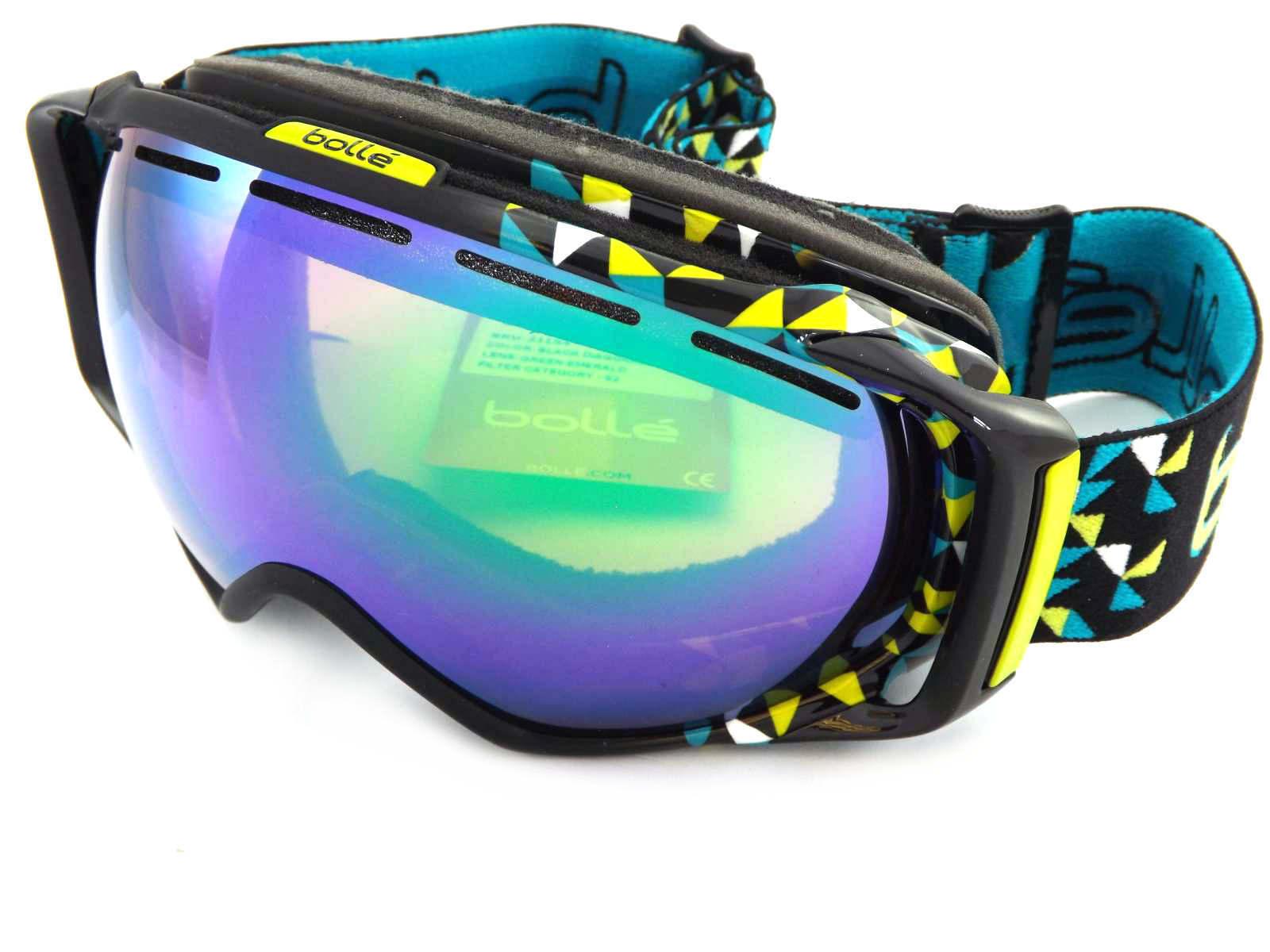 Bolle Premium Gravity Snowboardbrille Schwarz Diagonale Grün Grün Grün Smaragd 21154 911227