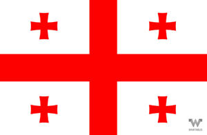 Flagge-Georgien-Aufkleber-8-5-x-5-5-cm-Fahne-Sticker-WHATABUS