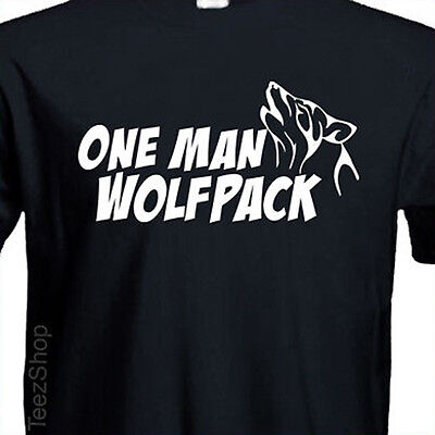 One Man Wolfpack  T Shirt Hangover Stag Party Trip Novelty Holiday Tshirt Tee