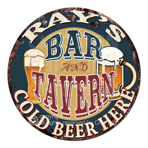 CPBT-0132-RAY-039-S-BAR-N-TAVERN-COLD-BEER-HERE-Sign-Father-039-s-Day-Gift-For-Man