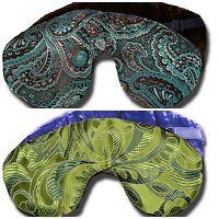 USA-Made Lavender-Scented Silk Brocade/Crushed Velvet Reversible Sleep Eye Mask