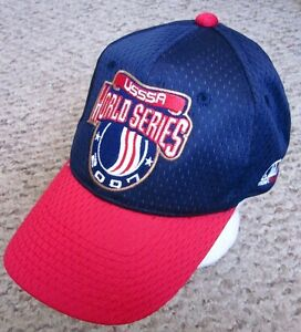 usssa logo world series baseball hat 2007 cap fast pitch