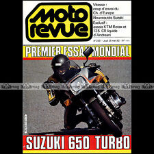 MOTO REVUE N°2551 SUZUKI XN 85 650 TURBO KTM 500 ROTAX 125 CR ANDREANI 1982