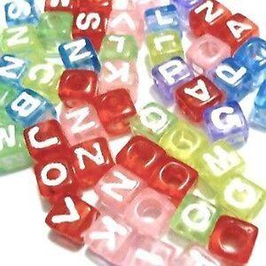 50-Pcs-6mm-Mixed-colours-Individual-Alphabet-Letter-Cube-Beads-Various-Alphabet